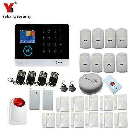 Yobang Security Wireless WIFI Alarm System GSM SMS Alarm Security For Home Protection PIR Motion Alarm Vibration Shock sensor yobang security 30a home security wireless alarm system gsm home burglar alarm kits new version pir infrared gsm sms alarm