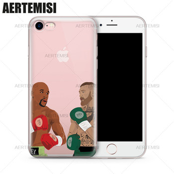 Aertemisi Phone Cases Floyd Mayweather Jr. vs. Conor McGregor Clear Soft TPU Case Cover for iPhone 5 5s SE 6 6s 7 8 Plus image