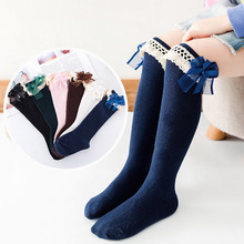 цены Girl Socks 12-19cm Old Cotton New Summer Korean Version Long Tube Princess Children's Knee Socks Kids Dance Socks sock