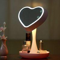 Bảng Đèn với Ánh Sáng Ban Đêm Vanity Gương với Lưu Trữ Ánh Sáng Đèn LED cho Make Up Thiết Kế Di Động Miễn Phí Vận Chuyển
