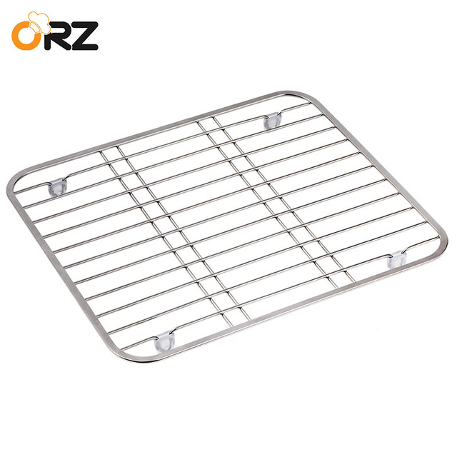 Orz Stainless Steel Sink Drainer Rack Multifunctional Kitchen Fruit Vegetable Dish Drying Protector