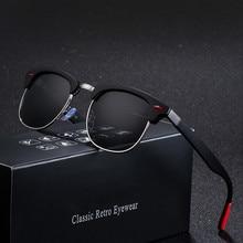 SALIHA 2019 Polarized Semi-Rimless Sunglasses Women/Men Vintage Rice Nail UV400 Classic Eyewear Brand Designer Sun Glasses
