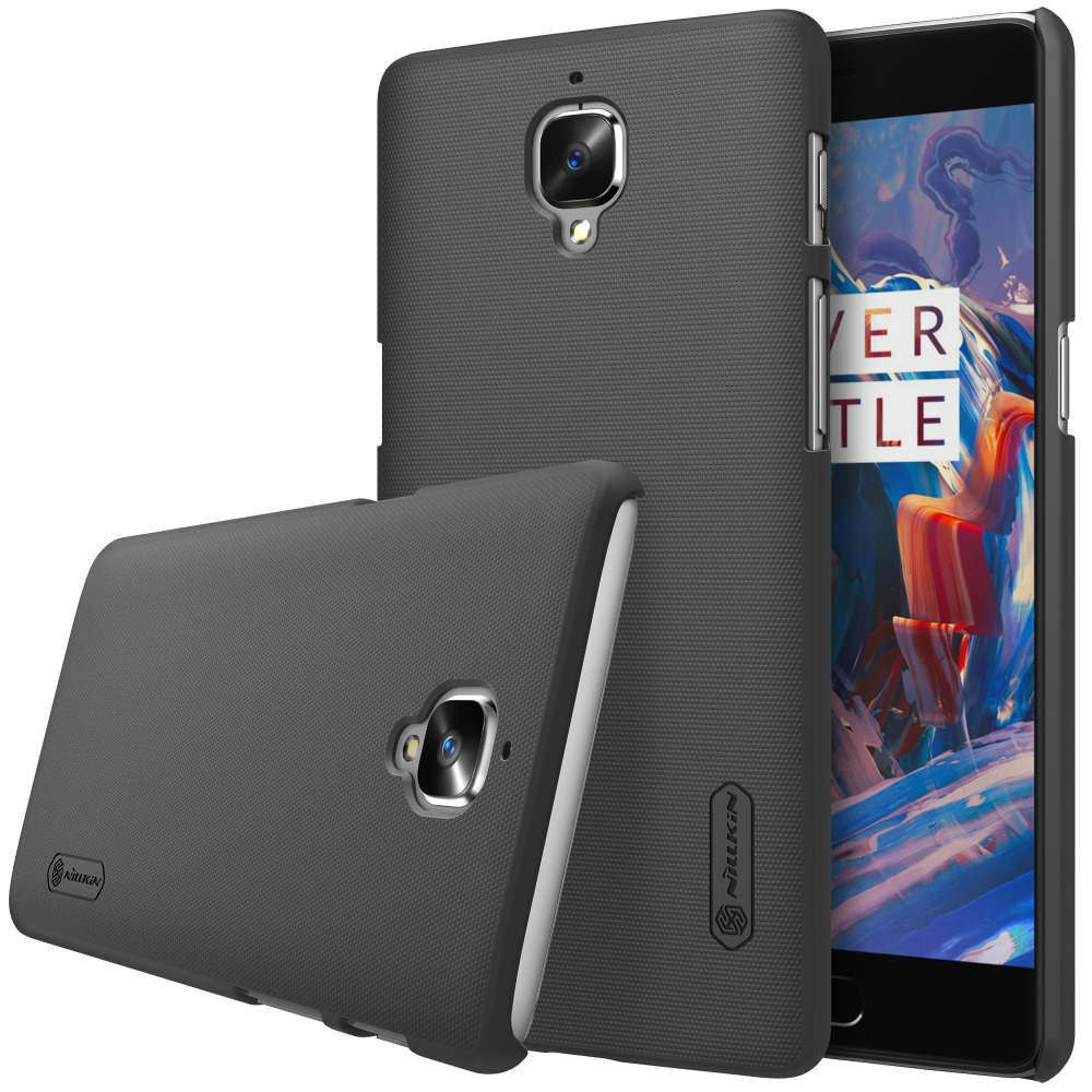 One plus 3 case Oneplus 3 case NILLKIN Super Frosted Shield hard back cover for Oneplus3 Oneplus 3T +free screen protector