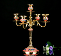 Europen 3arm 5 arm gold/silver color metal candle holders candlestick wedding centerpieces for wedding decoration ZT020