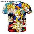 Dragon Ball Z Goku 3D engraçado Anime Super Saiyan t 2016 homens Harajuku t-shirt Homme de uma peça dos desenhos animados tops