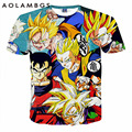 Dragon Ball Z Goku t 3D camisa divertida animado Super Saiyan camisetas 2016 mujer hombre Harajuku t-shirt Homme una pieza de dibujos animados tops