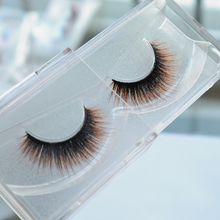 Purple Chocolate Color 100% 3D Mink Strip Eyelashes Hand Made Type Individual Eyelashes Extension