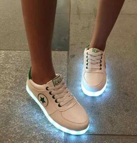 เด็กLight Upรองเท้าเด็กนำUSBสว่างKrasovkiส่องสว่างเรืองแสงสตรีบุรุษแฟชั่นรองเท้าผ้าใบชายหญิงA11