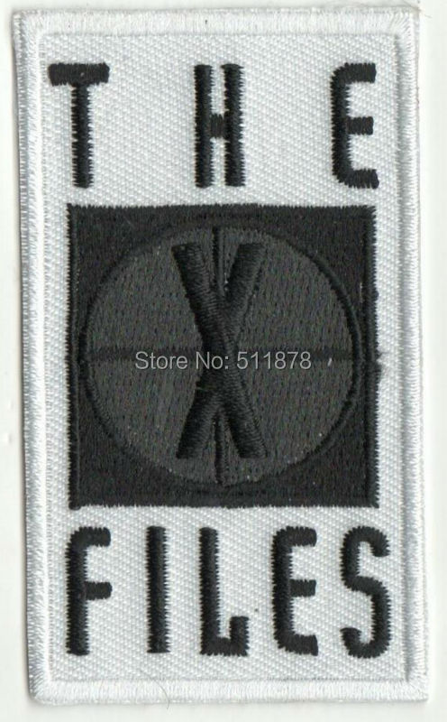 3 THE X FILES Movie TV Series Cosplay Costume Embroidered Emblem iron on patch badge X