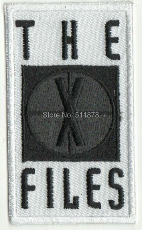 """3 """"la serie de películas de X archivos Cosplay traje bordado emblema hierro en parche insignia X Archivos-in Parches from Hogar y Mascotas    1"""