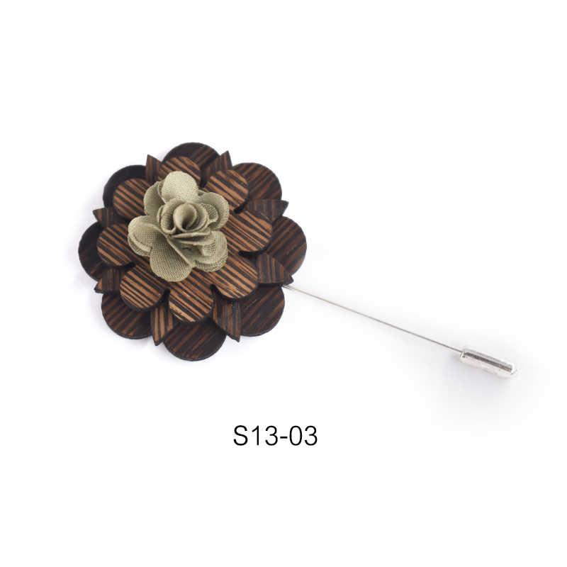 In legno di Grandi Dimensioni Femminili D'epoca Pins e Spille per Le Donne Di Legno Grande Vintage Collare Lapel Pins Distintivo Gioielli Fiore Spilla Legno