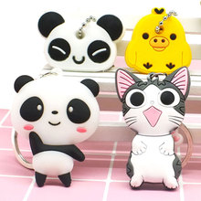 Zoeber 2017 cute cartoon panda keychain key cover anime cartoon Toy Doll keyring kawaii Present Gift panda silicone key chians