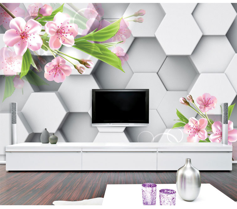 Buy Mural Television Background Wall 3d Wallpaper 3d Seamless Large Living Room