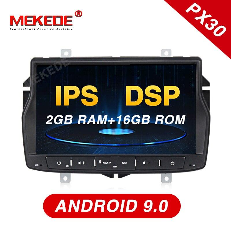 Para A Rússia Lada! vesta Android9.0 para Lada Car Radio GPS Navi navigation player apoio 4G função IPS tela WiFi Bluetooth DSP