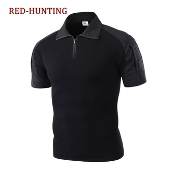 Men's Short Sleeve Combat T-Shirt Perfet Gift for Hiking Climbing Camping Hunting Fishing mountaineering Fishing Cycling image