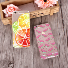 Soft Silicon Fruits Transparent iPhone Case