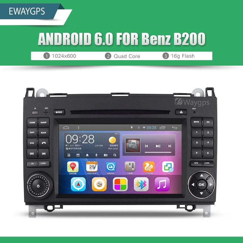 imágenes para Android 6.0 Quad Core Estéreo Bluetooth GPS de Navegación de DVD Del Coche Para Mercedes Benz W169 W245 W639 Sprinter II EW820P6QH V639