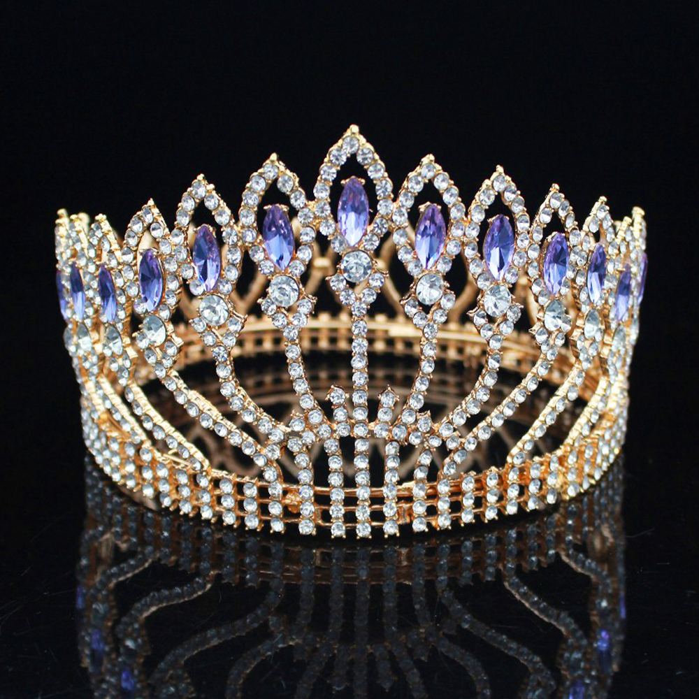 Crystal Queen Tiara Crowns Top Wedding Bridal Tiaras and Crowns Bride Diadem Women Prom Hair Ornaments Head Jewelry Accessories