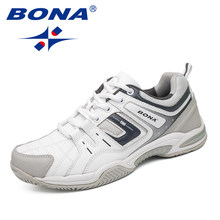 BONA Nieuwe Collectie Classics Stijl Mannen Tennisschoenen Outdoor Jogging Training Sneakers Lace Up Mannen Sportschoenen Gratis Verzending(China)