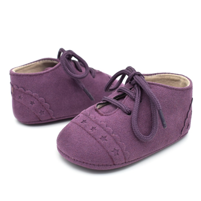 Infant Baby Girls Boys Spring Lace Up Soft Leather Shoes Toddler Sneaker Non-slip Shoes Casual Prewalker Baby Shoes 34