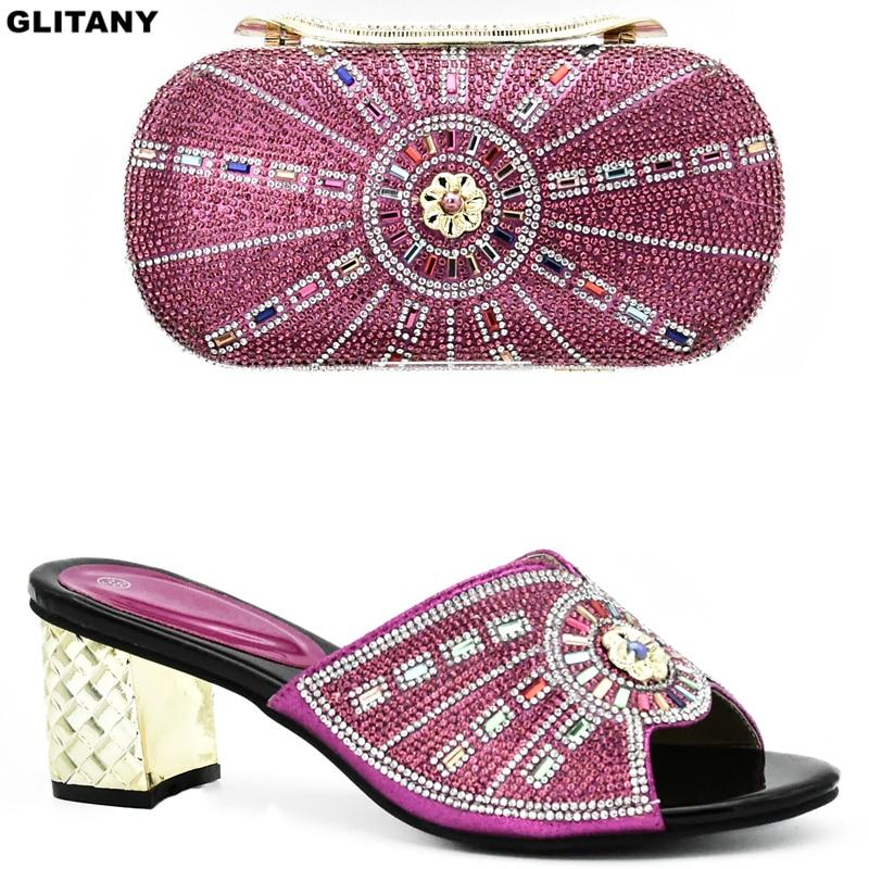 Und Blau rosa Sets Set Neue Italienische Mit Verziert Nigerian purpurrot Mode Party Frauen Für Afrikanische Tasche gold Strass Schuhe EwTgzTIqZ