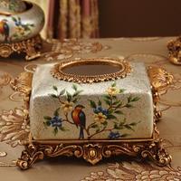 New garden resin, European retro tissue box, American paper box, home accessories, napkin box, storage box