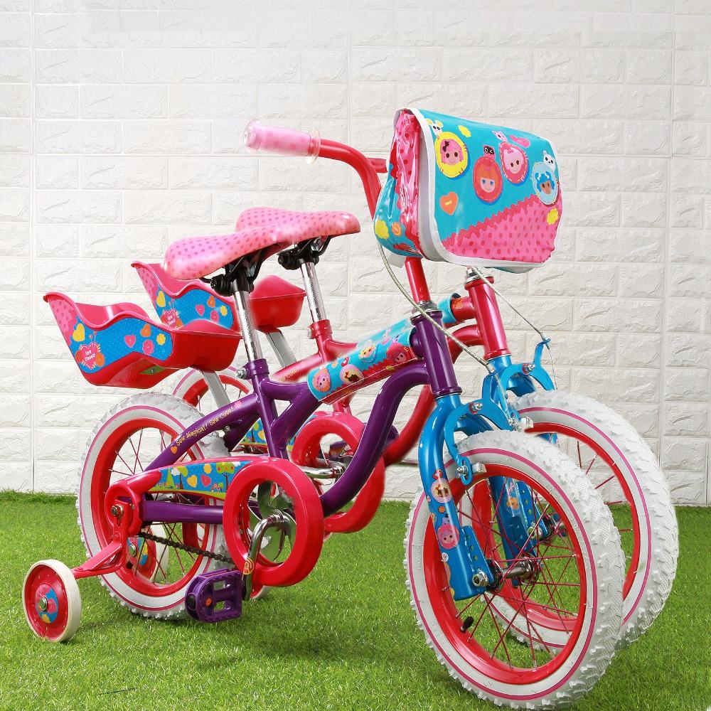 Bike 14'' Super Little girl Red & Pink Bike with Training