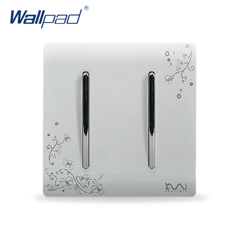 2018 2 Gang 2 Way Light Switch Hot Sale Wallpad Luxury Wall Switch Panel C30 Series 110~250V free shipping wallpad luxury wall switch panel doorbell switch x6 series 10a 86 86mm 110 250v
