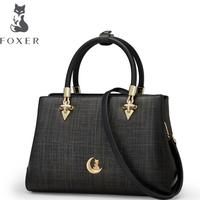 FOXER2018 High Quality Fashion Luxury Brand New Leather Shoulder Bag Casual Wild Messenger Bag OL Commuter
