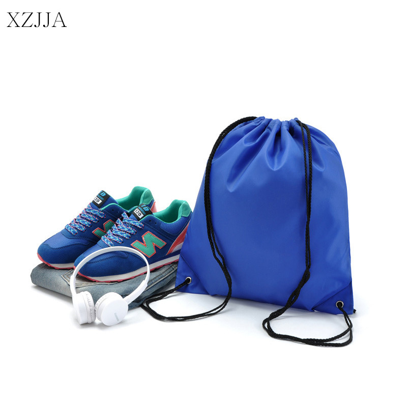 XZJJA Waterproof Nylon Storage Bags Drawstring Backpack Baby Kids Toys Bag Travel Shoes Laundry Lingerie Organizer Makeup Pouch