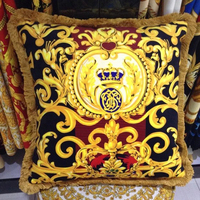 Free Shipping High Quality Europe Classic Design Luxury Royal New Sofa Chair Cushion CUSHION COVER ONLY