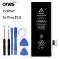 ONES Brand new Mobile Phone Battery 0 Cycle Capacity 1560mAh For iphone 5S 5C Batteries Replacement with repair kit Tools