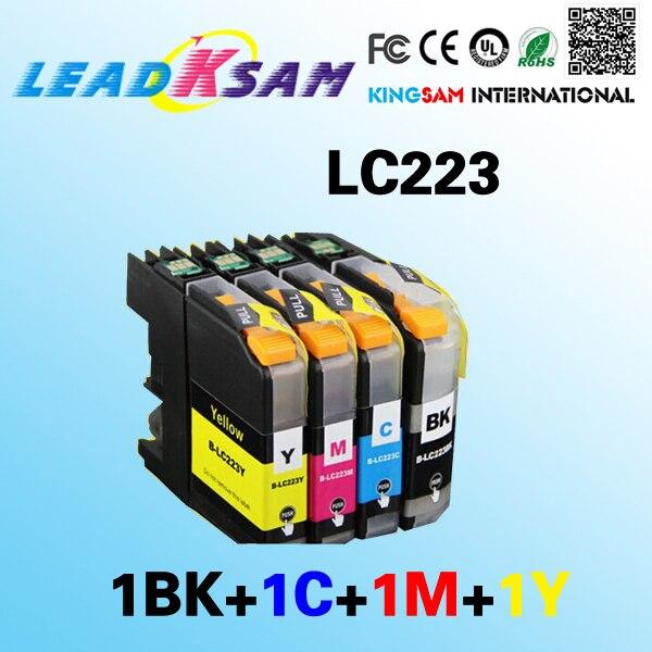 4x LC223 чернильный картридж, совместимый с женскими фотографиями J4625DW J5320DW J5620DW J5625DW J5720DW