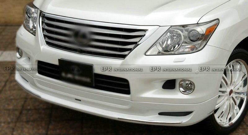 Lèvre avant FRP pour Toyota Land Cruiser (2012 +) 200 LXM Type fibre de verre avant becquet avant Kit de carrosserie garniture de réglage pour Cruiser - 5