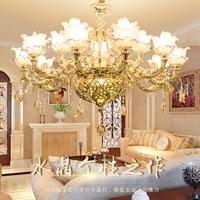 Luxury Candle Crystal Chandelier Lighting Fixtures Modern Lustres De Cristal Hanging Lamps For Bedroom Living Room