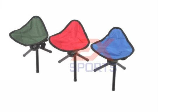 1X Folding Chair 3 Legs Picnic Fishing Triangle Tripod Seat Stool Outdoor  Camping Hiking