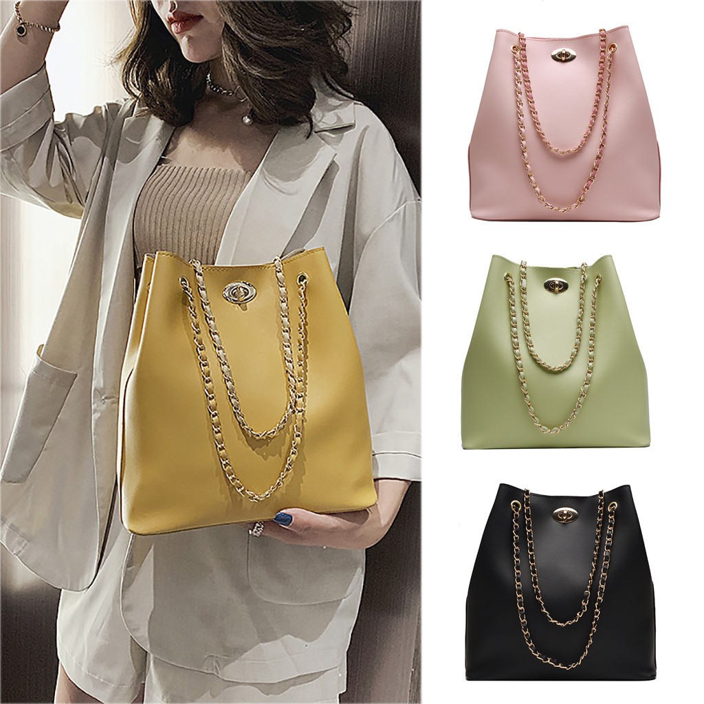 Women Tote Bucket-Bag Crossbody High-Capacity Fashion Joker Foldable