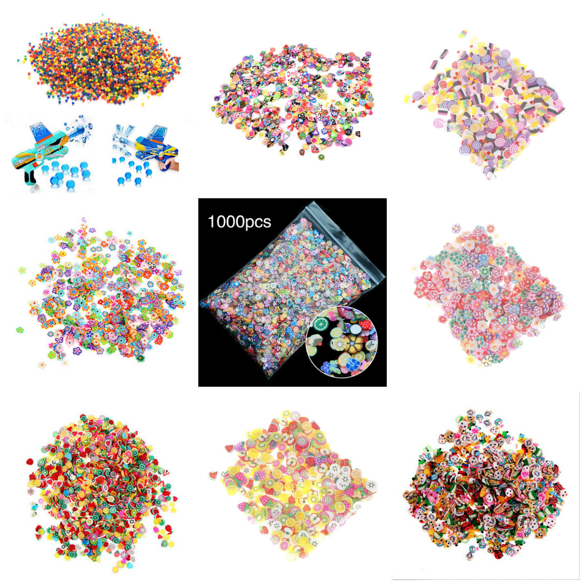 Modeling Clay 500/1000pcs Soft Pottery Fruit Slices Filler For Nails Art Tips Slime Fruit For Kids Diy Slime Accessories Supplies Decoration Fixing Prices According To Quality Of Products Learning & Education