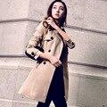 Пальто пыли развивать нравственность весной 2016 новые женские большие ярдов длинный рукав двубортный женщин пальто