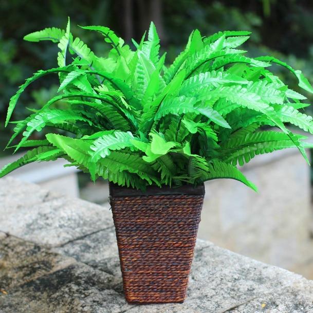 artificial fern floral room crafts plastic arrangements arts accent