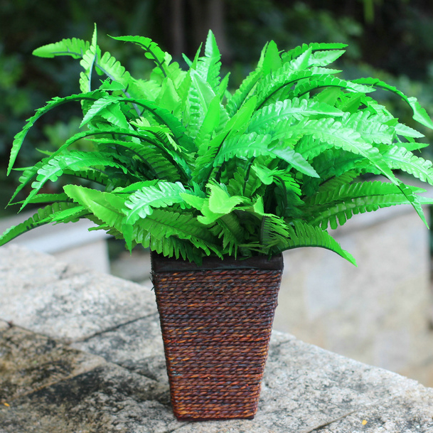 Artificial Fern Floral Room Crafts Plastic Arrangements Arts Accent Piece Grass Flower Green Home Decor Lively
