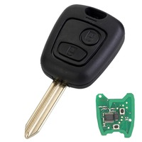 2 Button Remote Car Key Shell Case 433MHz REMOTE Car KEY WITH CHIP For Citroen Saxo