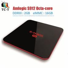 [Original] S912 R-TV Pro CAJA Amlogic 2 GB/16 GB Android 7.0 TV Box R CAJA de TV WIFI AP6330 2.4 GHZ/5.8 GHZ BT4.0 OTA Miracast APK