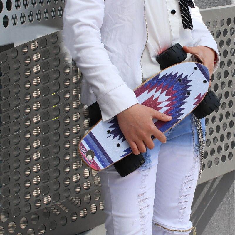 17-Zoll-Fisch-Skateboard Kanadischer Ahorn-einzelner Rocker-Bürsten-Straßen-Platten-Querfeldein großes Räder-Landstraßen-Skateboard