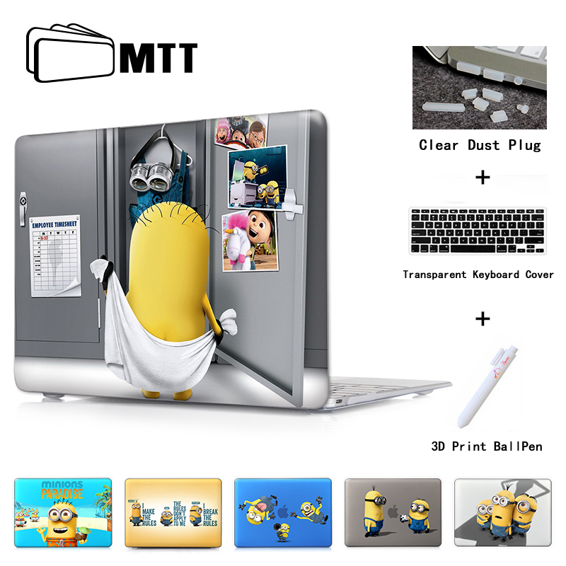 Minions Dressing Room Laptop Skin Case Notebook Cover for Macbook Air 11 13.3 New 12 Inch Pro 13 15 Retina Laptop Hard Shell keybook cover solid hard cover for xiaomi mi air 12 5 13 3 inch laptop protective shell skin for mi air 12 13 notebook case