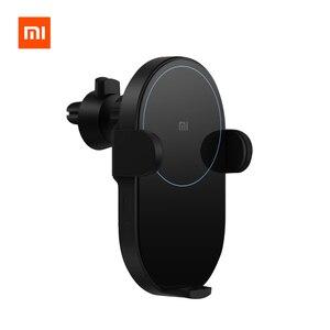 Image 1 - Xiao mi chargeur de voiture sans fil 20W Max capteur infrarouge Intelligent électrique sans fil Qi charge rapide mi support pour téléphone