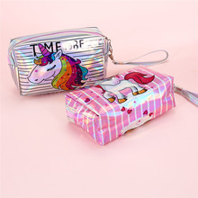 Nnicorn Makeup Lady Laser Makeup Bag Handbag Student Cartoon Storage Bag Summer Lovely Girl Bag