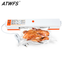 ATWFS Best Food Vacuum Sealer Packaging Packing Machine Film Kitchen Food Saver Mini Vacuum Container with 15pcs Vacum Bag