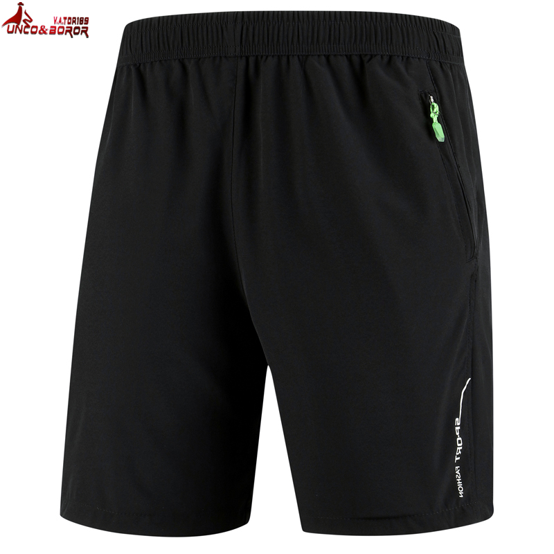 UNCO&BOROR Plus Size 7XL 8XL 9XL Men Solid Breathable Elastic Waist Casual Male Beach Shorts Outwear Sporting Gyms Joggers Short