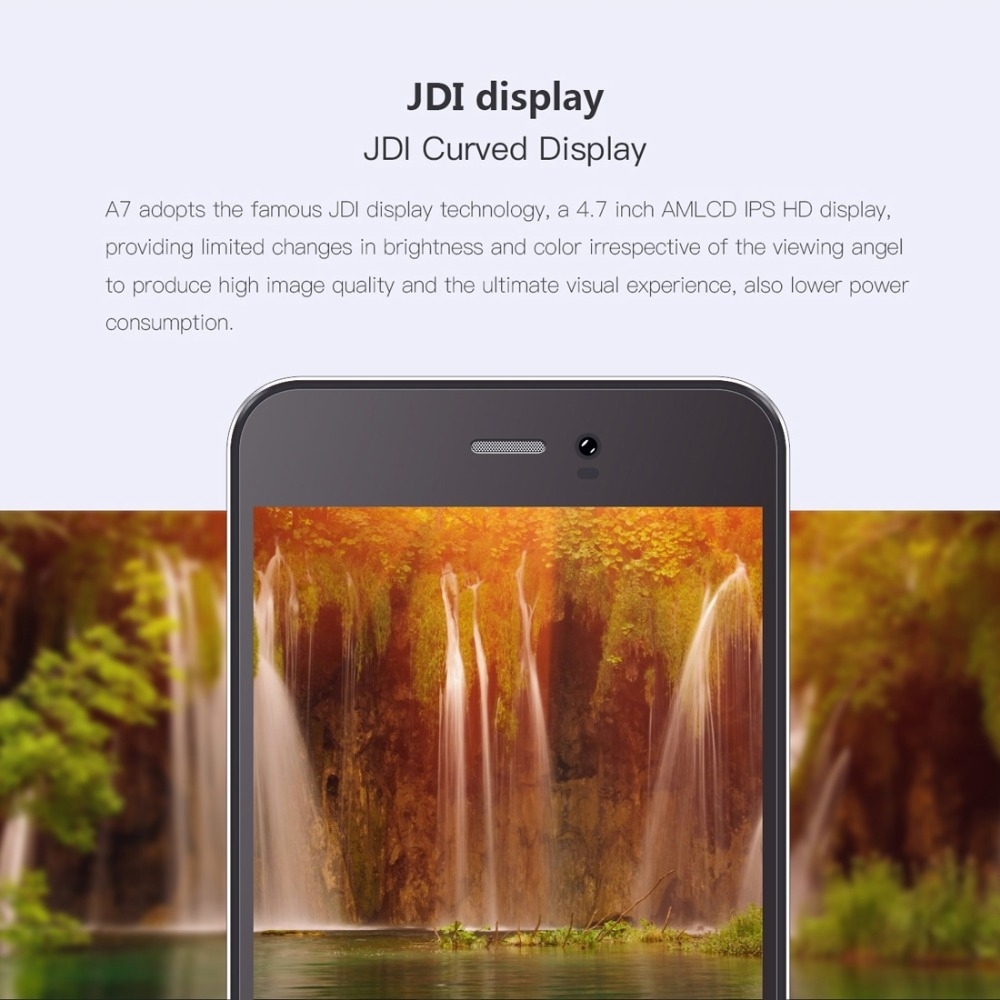 Gretel A7 Smartphone Android 7.0 1GB RAM 16GB ROM MT6580 Quad Core 1.3GHz 720P 8MP Dual SIM 4.7 inch Cell Phones 3G WCDMA Mobile